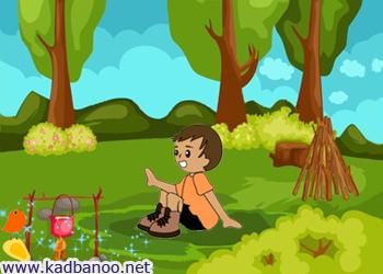قصه سرگردانی پسر هیزم شکن در جنگل