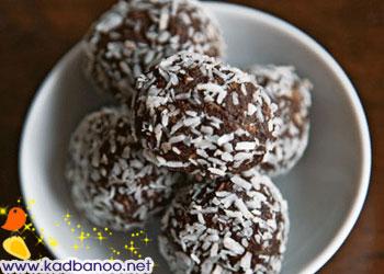 توپ های شکلات و قهوه