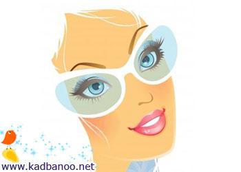 آرایش متناسب با عینک