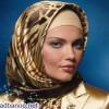 هماهنگی آرایش با رنگ شال و روسری