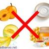 عسل را با خربزه، زردآلو را با ماست نخورید