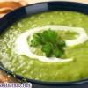 سوپ نخود فرنگی با خامه و پنیر