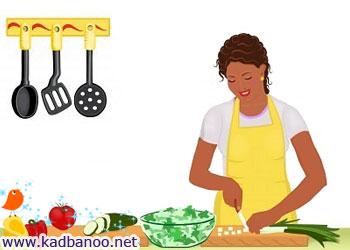 طبخ یک غذای سالم و مغذی