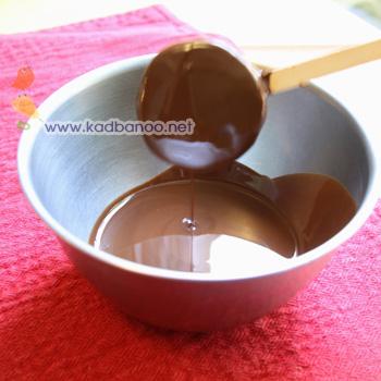 بستنی کیوی با پوشش شکلات