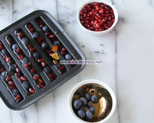 مکعب های یخی میوه ای متفاوت