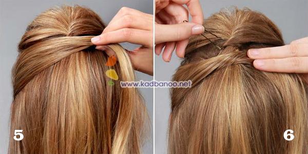 درست کردن مدل موی زیگزاگی در خانه