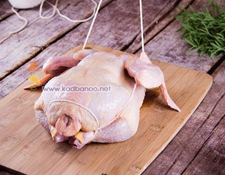 نحوه بستن مرغ شکم پر