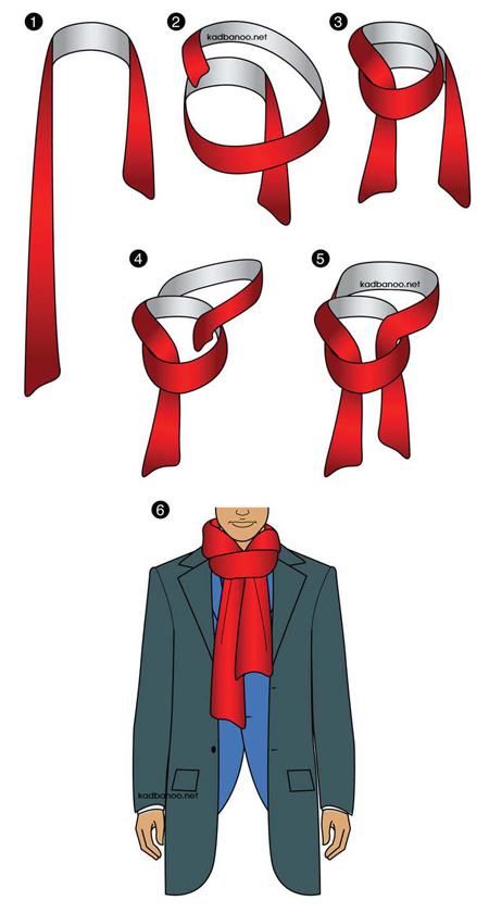 آموزش تصویری بستن شال گردن مردانه