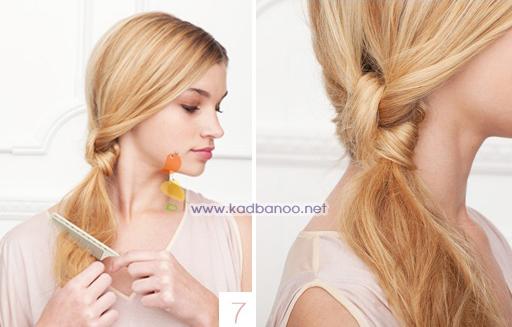 درست کردن مدل موی ساده در خانه