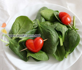 تزیین گوجه به شکل قلب