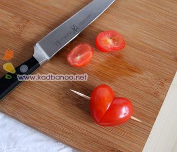 آموزش تزیین گوجه به شکل قلب