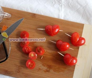 روش درست کردن گوجه قلبی