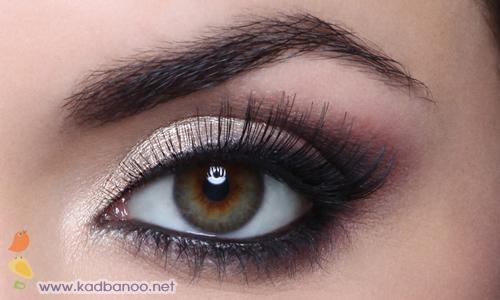آموزش تصویری آرایش کلاسیک چشم