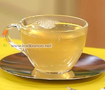 چای زنجبیلی با عسل و لیمو