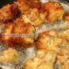 گل کلم سرخ شده پنیری