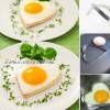 تخم مرغ نیمرو به شکل قلب