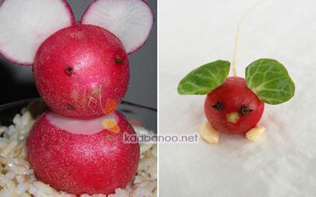 تزیین تربچه به شکل موش